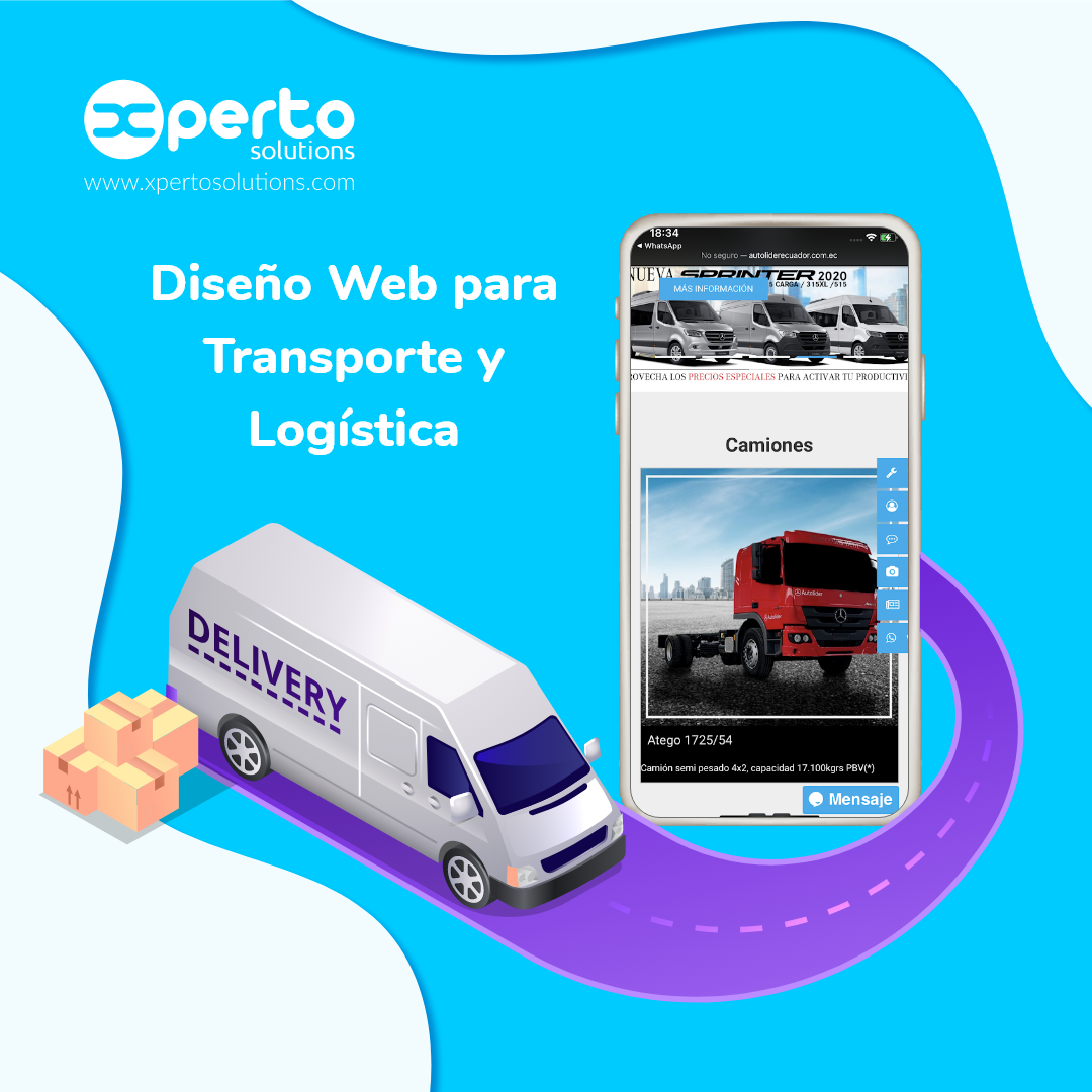 Página web para Transporte y Logística
