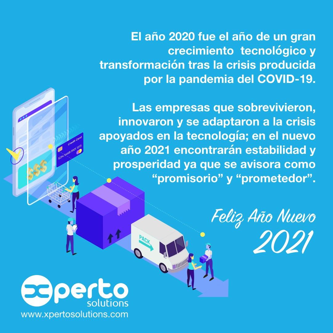 Feliz Año Nuevo 2021 tecnológico y emprendedor