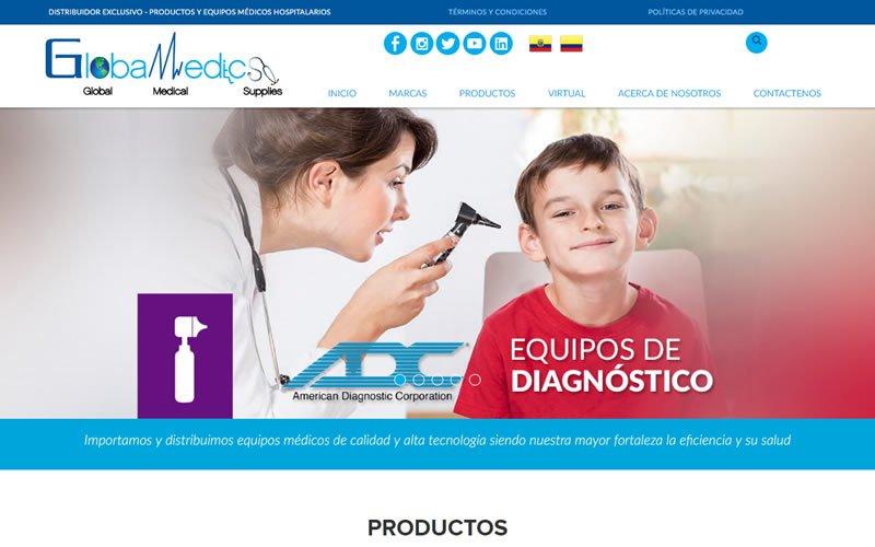 Catálogo Web Globamedics S.A. Distribuidor Exclusivo de Productos y Equipos Médicos Hospitalarios
