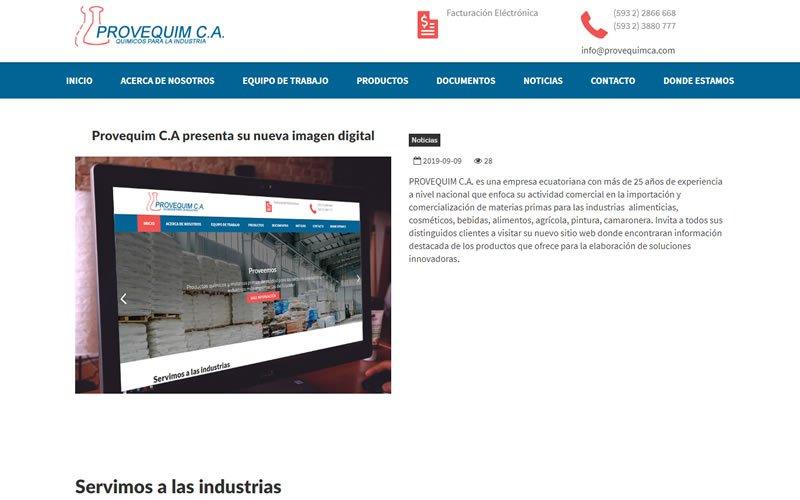 Diseño Web Provequim C.A