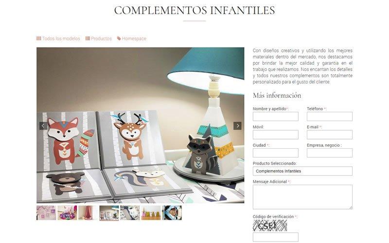 Catálogo Web de Mobiliario de Hogar e Infantil Homespace
