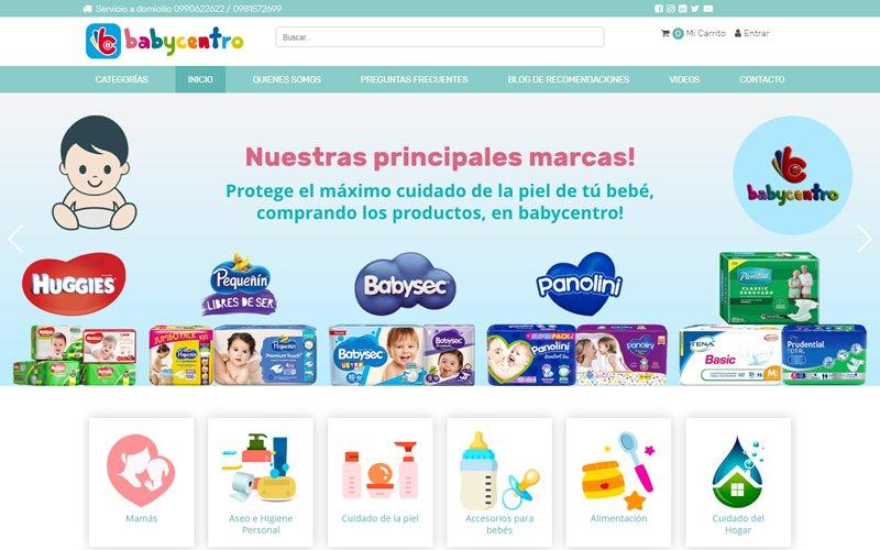 Ecommerce Catálogo Baby Centro Ecuador Distribuidora de Productos para el cuidado de el bebé