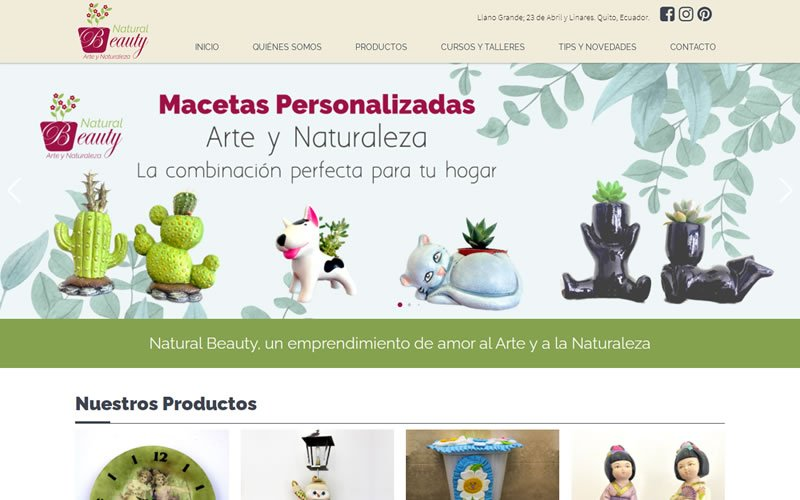 Catálogo Ecommerce de Productos para Natura Beauty