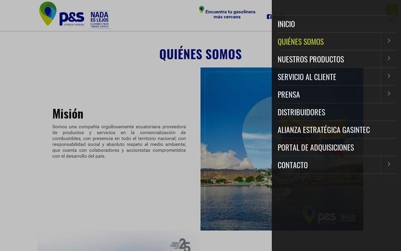 Diseño y Desarrollo de un Portal Web para Petróleos y Servicios