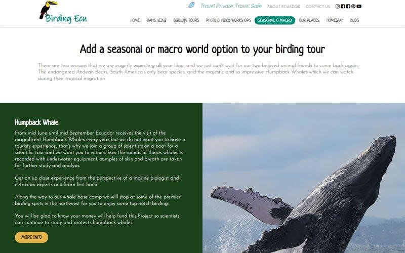 Catálogo Web de Servicios Turísticos Birding Ecuador