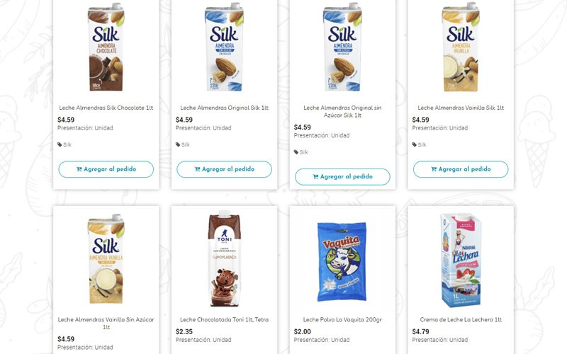 Catálogo Ecommerce de Productos de Supermercado Online para Neighbors