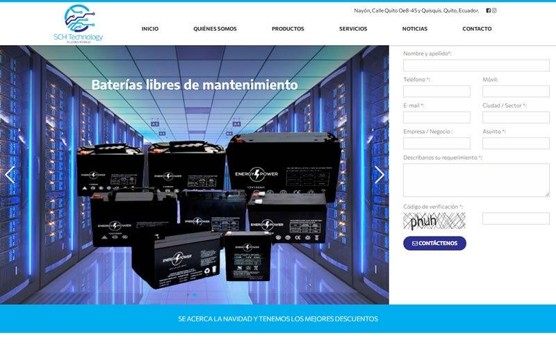 Catálogo Ecommerce de Productos y Servicios para SCH- Technology