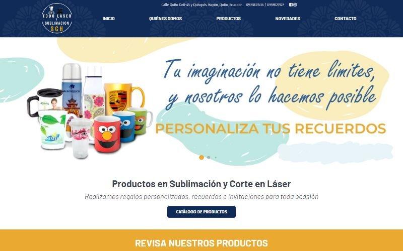 Catálogo Ecommerce de Productos y Servicios para Todo Lasér y Sublimación SCH