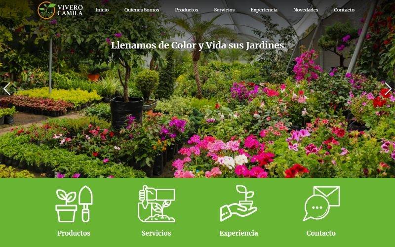 Catálogo Ecommerce de Productos y Servicios para Vivero Camila