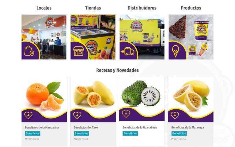 Catálogo Ecommerce de Productos y Servicios para Helados de Paila 5ta Generación Rosalía Suárez