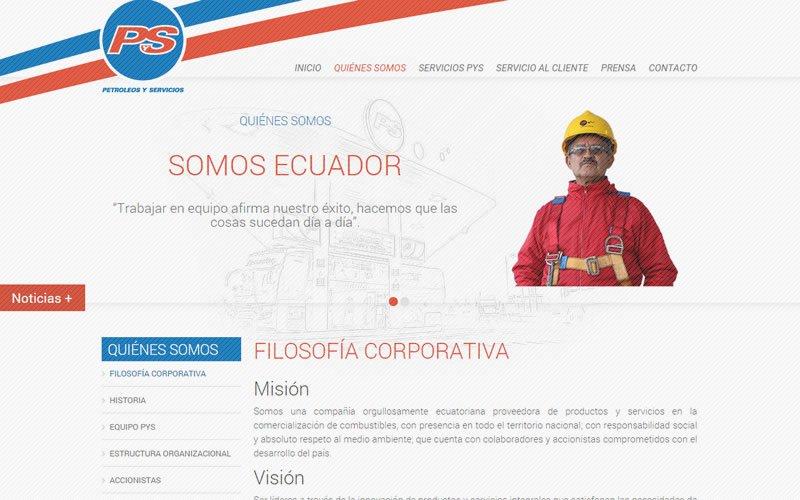 Petróleos y Servicios Web