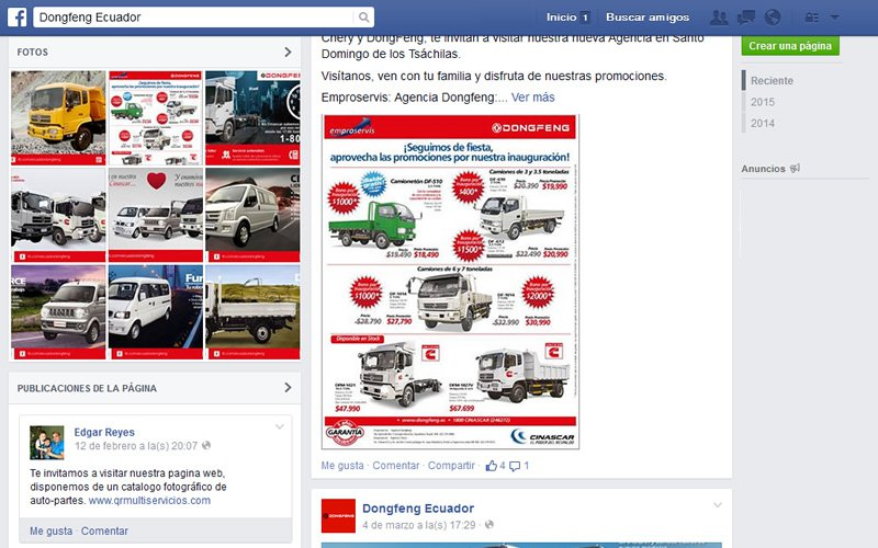 Soporte Redes Sociales Dongfeng
