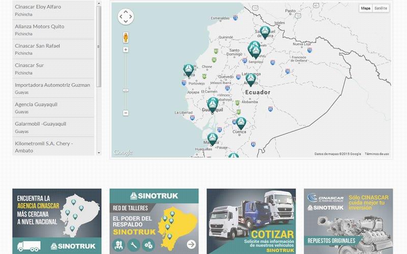 Camiones Sinotruk Web