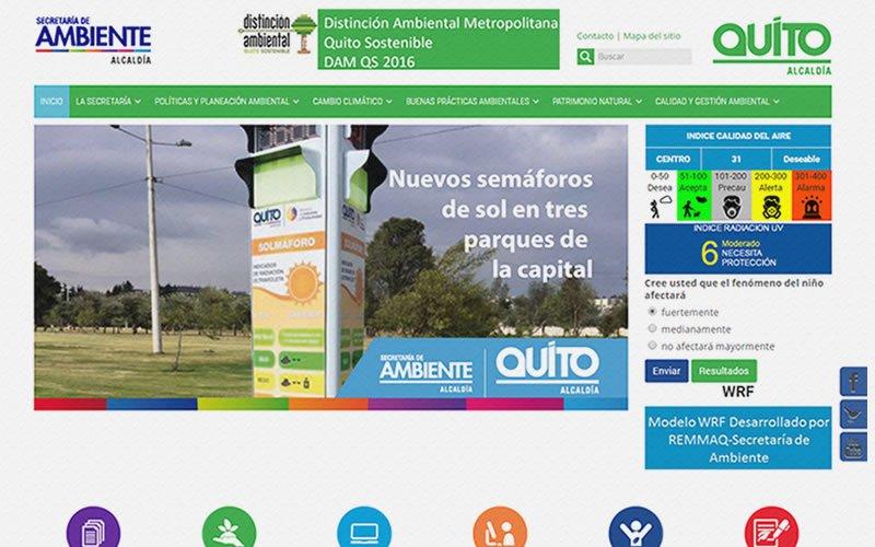 Web Secretaría de Ambiente de Quito