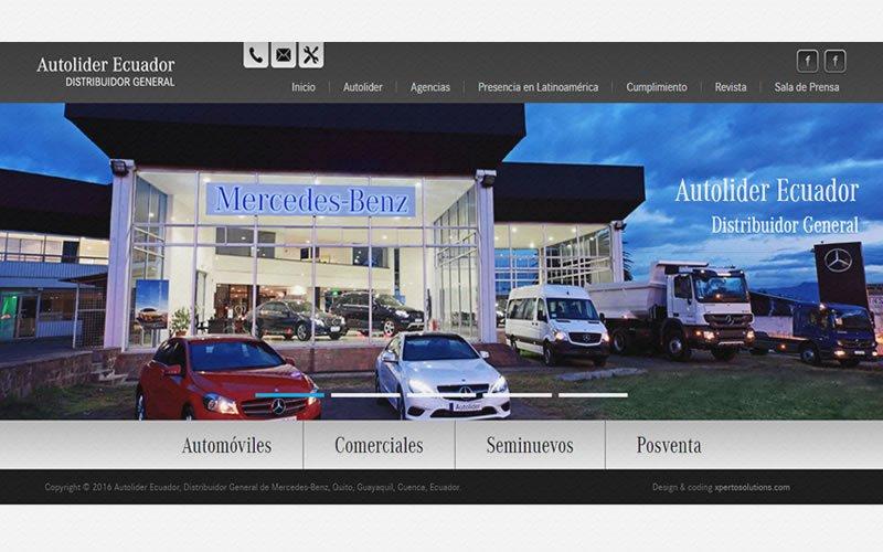Landing page Mercedes-Benz-Ecuador