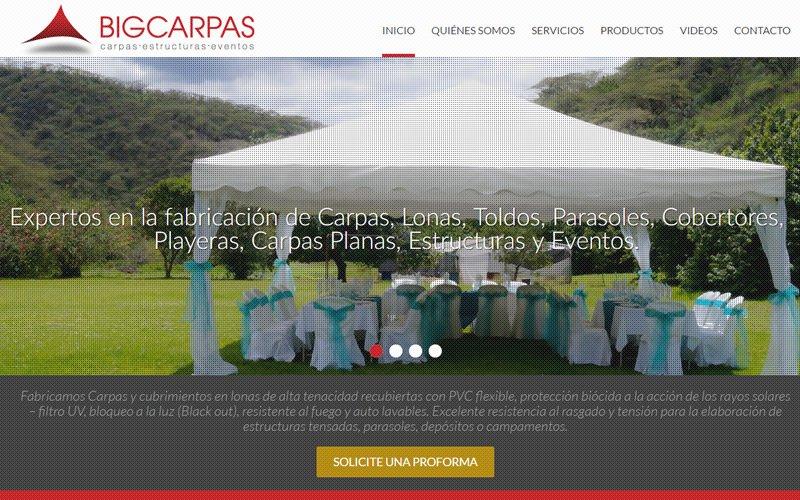 Bigcarpas, Catálogo Web