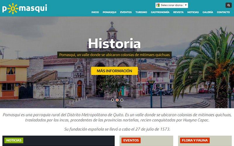 Sitio Web Pomasqui.com