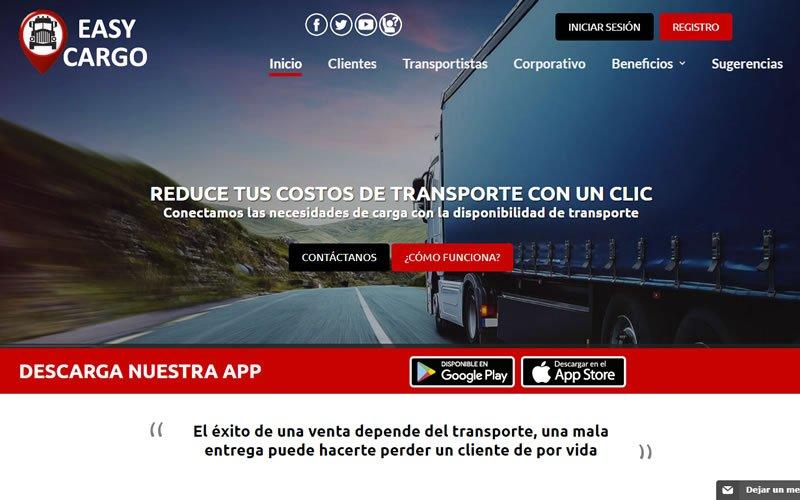 Portal Web EasyCargo APP para Transporte pesado