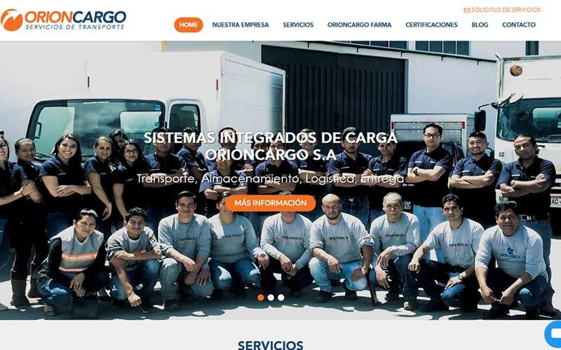 Sitio web Corporativo Orioncargo S.A.