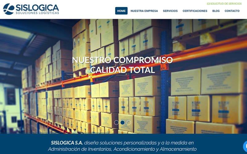 Sitio web Corporativo Sislógica S.A.