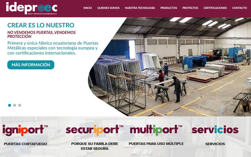Catálogo Web Ideproec S.A.