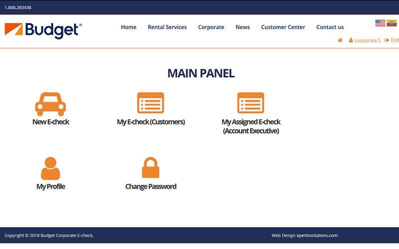 Aplicación web Business E-check para la gestión de reservas de vehículos