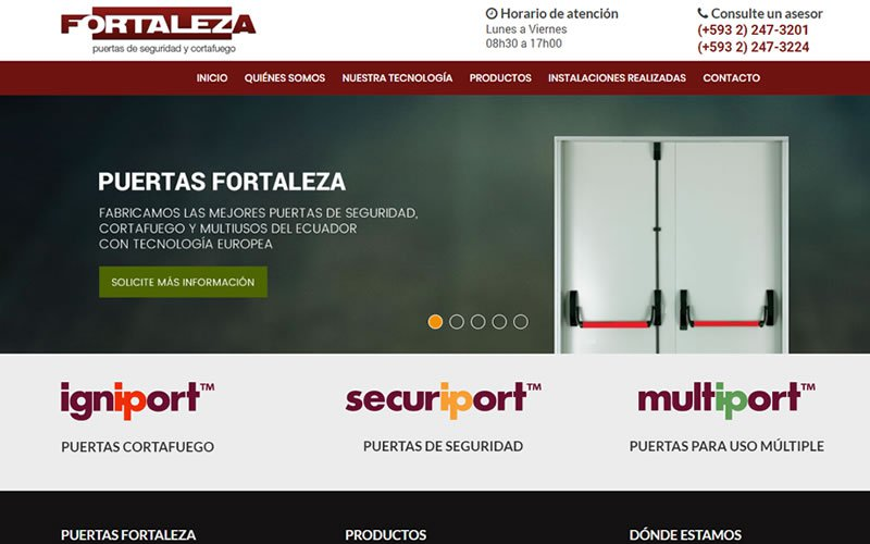 Sitio Web Puertas Fortaleza