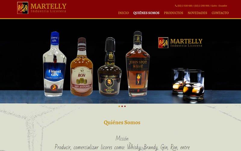 Sitio Web Industria Licorera Martelly