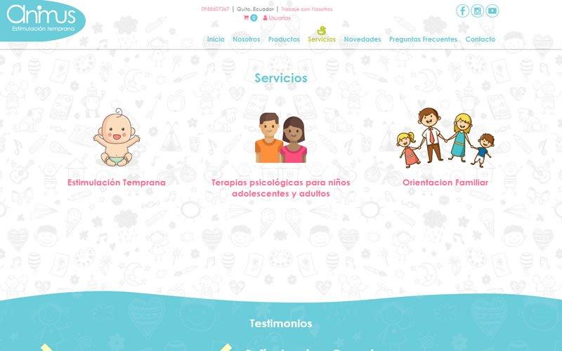 Catálogo Web Animus Estimulación Temprana
