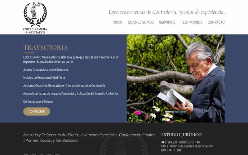 Sitio Web Oswaldo Mejía & Asociados