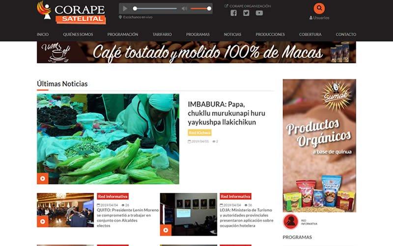 Plataforma Web de Noticias Corape Satelital