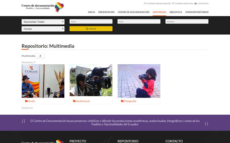 Plataforma Web - Repositorio de Documentos