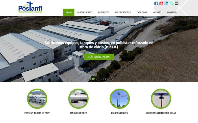 Catálogo Web Postanfi S.A. Fabricante de Tanques y Equipos en PRFV