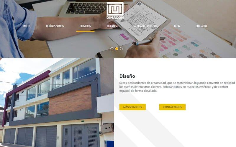 Catálogo Web de Servicios de la Constructora Dimacon